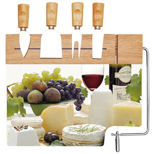 Easy Life Cheese Board Set with Knives & Cutter