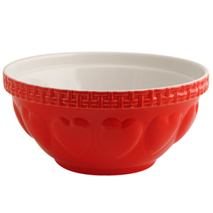 Mason Cash Hearts Mixing Bowl Red 29cm