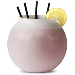 Plastic Cocktail Fish Bowl White 105.5oz / 3ltr