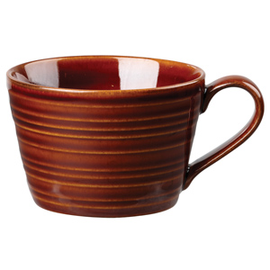 Art De Cuisine Rustics Snug Tea Cup Brown 8oz / 227ml