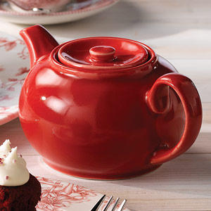 Churchill Beverage Cafe Red Nova Teapot 15oz / 420ml