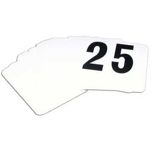 Table Number Cards 1-25