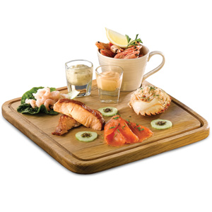 Art De Cuisine Rustic Oak Board Square 29cm