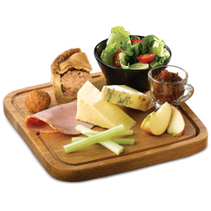 Art De Cuisine Rustic Oak Board Square 25.5cm