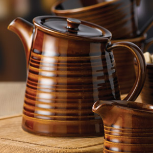 Art De Cuisine Rustics Snug Tea Pot Brown 15oz  425ml (Case of 6)