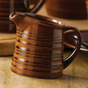 Art De Cuisine Rustics Snug Milk Jug Brown 5oz / 140ml
