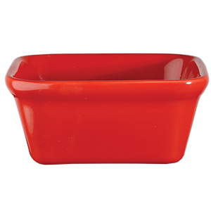 Churchill Cookware Square Pie Dish Red 4.75inch / 12cm