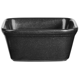 Churchill Cookware Square Pie Dish Black 4.75inch / 12cm