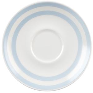 """Churchill Vintage Café Saucer Blue Stripes 6.8"""" / 15.6cm"""