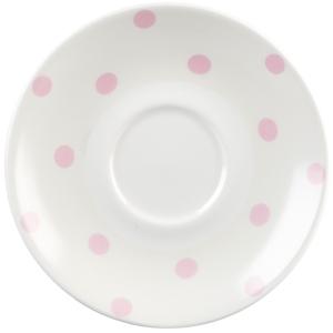 """Churchill Vintage Café Saucer Pink Spots 6.8"""" / 15.6cm"""