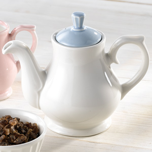 Churchill Vintage Café Tea Pot Blue 15oz / 42.6cl