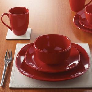Amazing Cuba Red Gloss 16 Piece Dinner Set