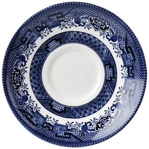 Churchill Vintage Print Blue Willow Georgian Saucer 5.5 Inch / 14.1cm