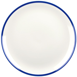 Churchill Retro Blue Coupe Plate 10.2inch / 26cm