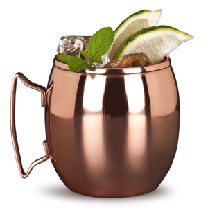 Moscow Mule Barrel Copper Mug 14.5oz / 414ml