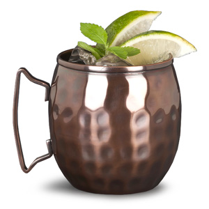 Moscow Mule Barrel Hammered Copper Mug 14.5oz / 414ml